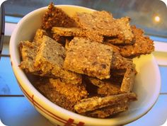 frugal eats: sweet and savoury crackers made with almond pulp