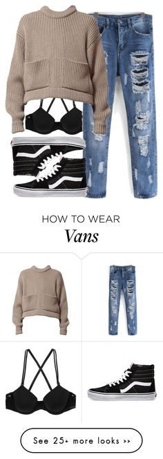 """""""I think I got a cold faq"""" by fungirl1forlife on Polyvore featuring Calvin Klein Underwear and Vans"""