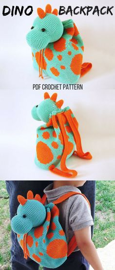 I love this cute Dino crochet backpack. This will be a nice crochet project to start the new year. It will make a great gift for my little cousin. #crochet #ad #crochetbackpack #dino #etsyfind
