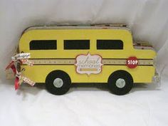 From The Heart of Tammy: Imaginisce Teacher's Pet School Bus Album School Bus Art, School Bus Driver, School Buses, School Stuff, Mini Scrapbook Albums, Mini Albums, Bus Humor, Bus Life, Wheels On The Bus