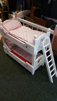 Doll bunk beds with ladder. Booth 105