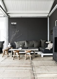 LIVING ROOM black and wood