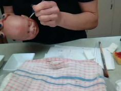 Painting a Polymer Clay Baby With Genesis Heat Set Paints