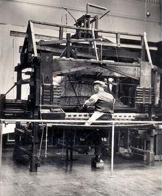 Jacquard loom, used