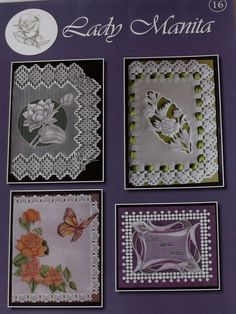 LADY MANITA PATTERN PACK 16      Four beautiful patterns from Lady Manita: Lotus, Peony, Mariposa, Arum Lily. 4 pages of instructions and patterns.