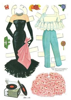 1966 Barbie and Ken Cut-Outs