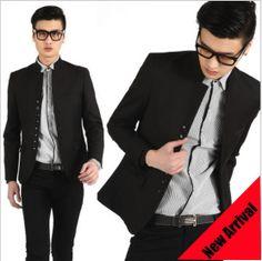 2013 new autumn-summer men male chinese style tunic suit blazer british breasted stand collar black man masculino casacos blazer $49.00