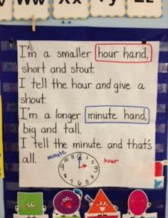 Sing this to the tune of I'm a Little Teapot! Great idea for teaching how to tell time.