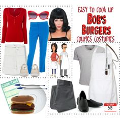 """""""Easy to Cook Up (DIY) """"Bob's Burgers"""" Couples Costumes"""" by leighanned on Polyvore"""