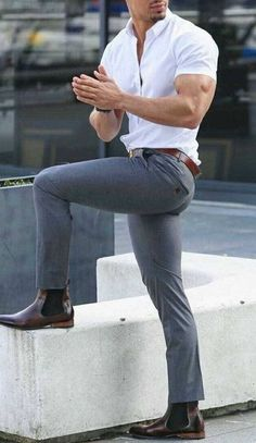 120 cool men's casual fashion – page 1 Mens Dress Outfits, Formal Men Outfit, Outfits Casual, Stylish Mens Outfits, Mode Outfits, Casual Boots, Casual Dresses, Casual Outfit For Men, Mens Club Outfit