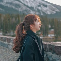 OneDor Long Curly Wrap Around Ponytail Hair Extension Synthetic Chestnut Brown) Ulzzang Korean Girl, Cute Korean Girl, Uzzlang Girl, Grunge Hair, Girl Photography Poses, Ponytail Hairstyles, Stylish Girl, Aesthetic Girl, Sensual