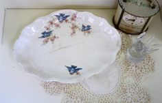 Hey, I found this really awesome Etsy listing at https://www.etsy.com/listing/257128613/shabby-blue-bird-dish-homer-laughlin