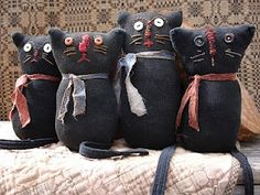 Primitive Sock Kitties