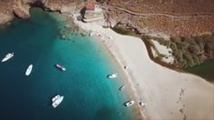 Andros island (Άνδρος). The exotic Achla beach from above , stunning view !!