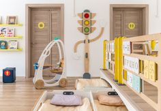 Kindergarten in Moscow- Детский сад в Москве Each bed has a room and … - Creative Kids Rooms, Cool Kids Rooms, Kindergarten Interior, Kids Room Design, Trendy Home, Kid Spaces, Kids Furniture, Decor Interior Design, Decoration