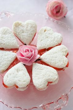 Heart tea sandwiches