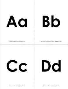 Alphabet Flash Cards - Here's a simple set of alphabet flash cards. Dark and bold, the uppercase and lowercase stick together on the same cards. One of several set of alphabet flash cards - come see all of them! Free Printable Handwriting Worksheets, Alphabet Worksheets, Preschool Worksheets, Letter Flashcards, Alphabet Cards, Alphabet Letters, Uppercase And Lowercase Letters, Letter Recognition, Lower Case Letters