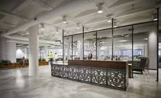 Key materials such as a greenery, wood, steel and concrete were used to form elegant and sophisticated tech-centric office space.