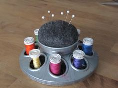 Sew Many Ways...: Tool Time Tuesday...Chicken Feeder For Sewing