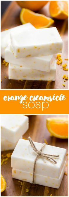 Orange Creamsicle Soap - Smells like a dream! I can't get enough of the vanilla + orange scent combo.: