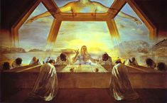 """""""The Sacrament of the Last Supper""""  by Salvador Dali."""