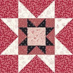 """Rising Star Quilt Block 12"""" finished - free pattern"""