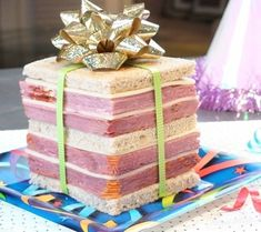 The Giftwich, a Rueben sandwich featuring 24 slices of ham.    via Buzzfeed