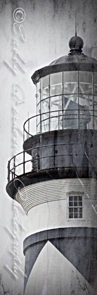 12x36 METAL PRINT Cape Lookout NC lighthouse by PhotographyByEabby, $249.99