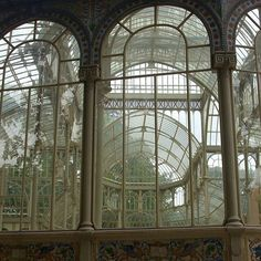 """Inspiration Palacio de Cristal #CrystalPalace #Madrid #Spain #glass #windows #crystal #metal #metalstructure #BuenRetiroPark #PalacioDeCristal #inspire"""