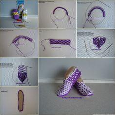 DIY Beautiful Crochet Purple Haze Slippers
