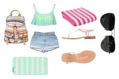 """""""#summer hanging"""" by tjames5 ❤ liked on Polyvore featuring Boohoo, MELLOW YELLOW, Ray-Ban and Kate Spade"""