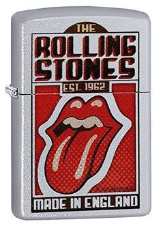 Zippo 11549 Rolling Stones Satin Chrome Lighter 2.25 x 1.4375