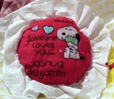 Embroidered Snoopy Pillow - NEEDLEWORK