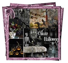 """""""A Grandinroad """"Glam Halloween"""" 🎃"""" by deborah-518 ❤ liked on Polyvore featuring interior, interiors, interior design, home, home decor and interior decorating"""