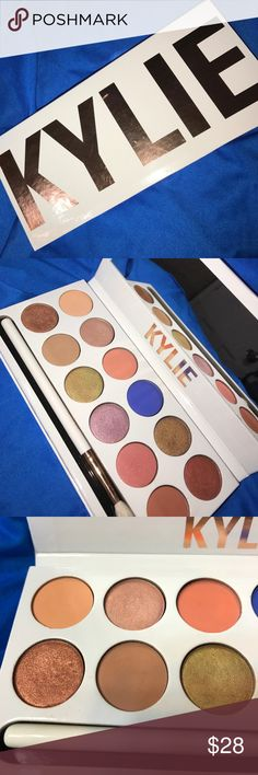 Kylie cosmetics palette Kylie cosmetics palette the Royal peach palette never used don't really care for it anymore comes with the brush Kylie Cosmetics Makeup Eyeshadow