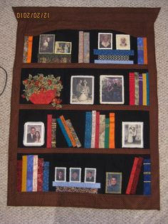 bookcase quilt, I like the pictures