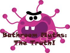 Is it really cleaner to flush your toilet with your elbow or foot? Can you really catch germs in the bathroom more than anywhere else? Find out the answer to these 'bathroom myths' and more.