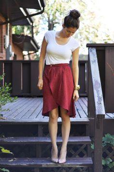 Sew Pretty Sew Free: Tulip Hem Wrap Skirt