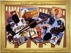 """Baseball Album"" oil on canvas 48x68 inches by Gary T. Erbe"