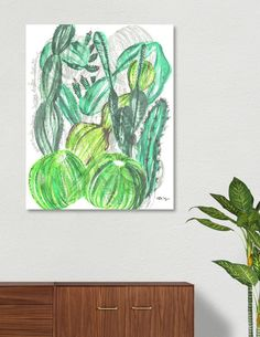 Discover «Cactusia», Limited Edition Canvas Print by Sanziana Toma - From $79 - Curioos Fine Art Prints, Canvas Prints, Thing 1, Aluminium Sheet, High Gloss, Clear Acrylic, Cotton Canvas, Things To Come, Posters