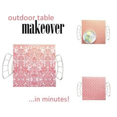 Outdoor Table Makeover In Minutes