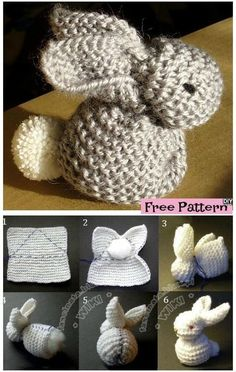 Diy Crafts - freepattern,bunny-Adorable Knitted Bunny – Free Pattern knitpattern freepattern bunny 5 Ideas for Knitting With Lace Weight Yarns The Crochet Gratis, Free Crochet, Knit Crochet, Blanket Crochet, Crochet Rabbit Free Pattern, Crochet Scarfs, Crochet Afghans, Knitting Patterns Free, Knit Patterns