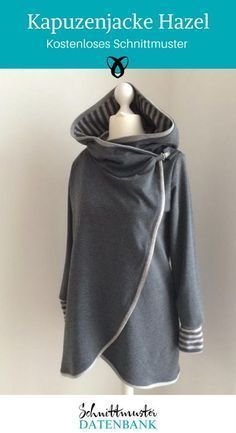 Nähe eine gemütliche Kapuzenjacke mit kostenlosem Schnittmuster. Die Jacke hat eine gefütterte Kapuze, breite Bündchen und wird vorne übereinander geschlagen. So ist sie kuschelig warm … Weiterlesen