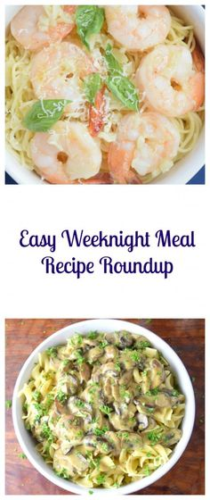 This Easy Weeknight Meal Recipe Roundup is full of fast, easy, and delicious recipes to make life easier on those busy weeknights! | Beer Girl Cooks