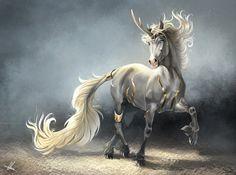 Guardian Kirin by Aomori unicorn monster beast creature animal Magical Creatures, Fantasy Creatures, Beautiful Creatures, Pegasus, Dragons, Fantasy Beasts, Creature Concept, Mythological Creatures, Creature Design