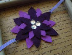 Two-toned Purple Felt Flower Headband by SweetTBabyBoutique on Etsy