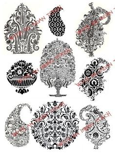 Indian block print motifs | Block Printing | Pinterest