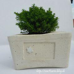 DIY: Pflanzgefäß aus Beton / concrete planter