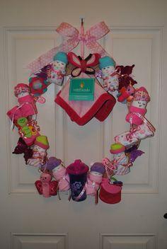 CUSTOM ORDER  Baby Shower Wreath  It's a Girl by YourDecoratedDoor, $45.00