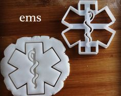 Emergency Medical Services cookie cutter | biscuit cutters Gifts medical students nurses paramedics health student do no harm medicine by Made3D on Etsy https://www.etsy.com/listing/232973678/emergency-medical-services-cookie-cutter